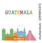 guatemala country in central... | Shutterstock . vector #1099892372
