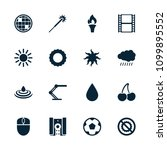 bright icon. collection of 16... | Shutterstock .eps vector #1099895552