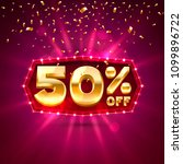 promotional 50 discount gold... | Shutterstock .eps vector #1099896722