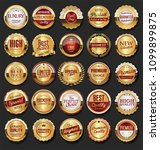 collection of golden retro... | Shutterstock .eps vector #1099899875