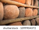 houses with stone walls  ... | Shutterstock . vector #1099904372
