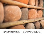 houses with stone walls  ... | Shutterstock . vector #1099904378