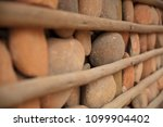 houses with stone walls  ... | Shutterstock . vector #1099904402