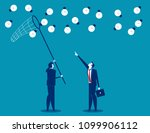 manager and team catching ideas ... | Shutterstock .eps vector #1099906112