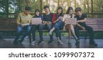 back to school education... | Shutterstock . vector #1099907372