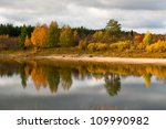 River In Taiga  Boreal Forest ...
