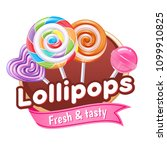lollipops candies colorful... | Shutterstock .eps vector #1099910825