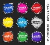 set grunge splash banners.... | Shutterstock .eps vector #1099917968