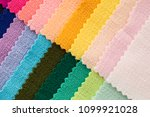 colorful fabric palette. | Shutterstock . vector #1099921028