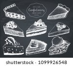 vector collection of hand drawn ... | Shutterstock .eps vector #1099926548