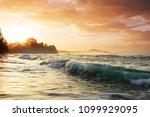beautiful tropical pacific... | Shutterstock . vector #1099929095