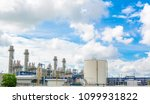 power plant with gas turbine at ... | Shutterstock . vector #1099931822