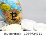 cryptocurrency concept   stack... | Shutterstock . vector #1099934312