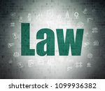 law concept  painted green text ... | Shutterstock . vector #1099936382
