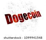 blockchain concept  pixelated... | Shutterstock . vector #1099941548