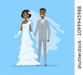 wedding   cartoon people... | Shutterstock . vector #1099945988