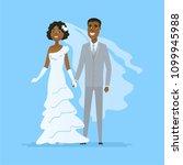 wedding   cartoon people... | Shutterstock . vector #1099945988