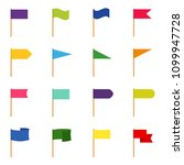set of icons of color flags ... | Shutterstock .eps vector #1099947728