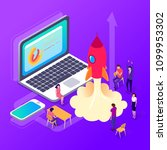 isometric people. officepresent ... | Shutterstock .eps vector #1099953302
