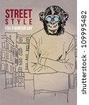 street fashion chimp | Shutterstock .eps vector #109995482