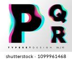 vector typeset design. neon... | Shutterstock .eps vector #1099961468