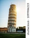 leaning tower of pisa in pisa ... | Shutterstock . vector #1099986215
