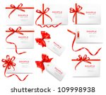 set of card notes with red... | Shutterstock .eps vector #109998938