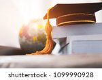 graduated or graduation... | Shutterstock . vector #1099990928