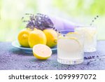 lemonade with lemons and... | Shutterstock . vector #1099997072