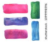 color watercolor banners   Shutterstock . vector #1099998596