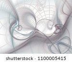 beautiful white fractal | Shutterstock . vector #1100005415