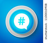 white hashtag in circle icon... | Shutterstock .eps vector #1100010908