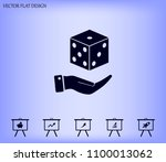 cubes for the game vector icon. | Shutterstock .eps vector #1100013062