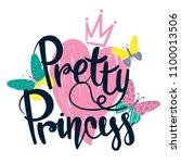 pretty princess. girlish t...   Shutterstock .eps vector #1100013506