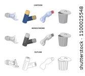 broken light bulb  used... | Shutterstock .eps vector #1100025548