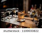 fresh delicious alcoholic... | Shutterstock . vector #1100033822