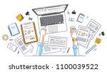 business analysis  office... | Shutterstock .eps vector #1100039522