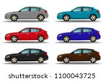 set of six different colors... | Shutterstock .eps vector #1100043725