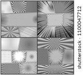 comic book gray backgrounds set ...   Shutterstock .eps vector #1100047712