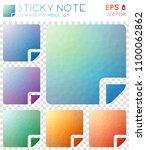 sticky note geometric polygonal ... | Shutterstock .eps vector #1100062862