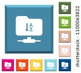ftp sort ascending white icons...   Shutterstock .eps vector #1100063822