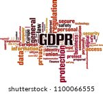gdpr word cloud concept. vector ... | Shutterstock .eps vector #1100066555