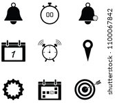 reminders icon set | Shutterstock .eps vector #1100067842