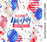 4th of july  independence day   ... | Shutterstock .eps vector #1100071688