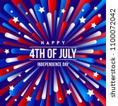 4th of july  independence day   ... | Shutterstock .eps vector #1100072042