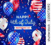 4th of july  independence day   ... | Shutterstock .eps vector #1100073092