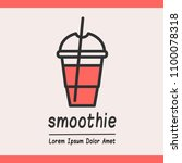 smoothie  logotype template for ... | Shutterstock .eps vector #1100078318
