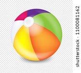 beach ball transparent... | Shutterstock .eps vector #1100081162