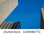 new york buildings view from... | Shutterstock . vector #1100086772