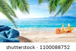 summer photo of beach and free... | Shutterstock . vector #1100088752
